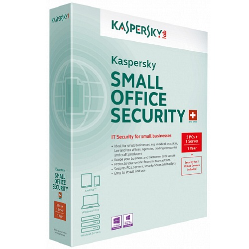 KASPERSKY KSOS Small Office Security, (1 Server + 5 PC + 5 MD), 1 YIL